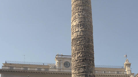 Column Of Marcus Aurelius stock footage