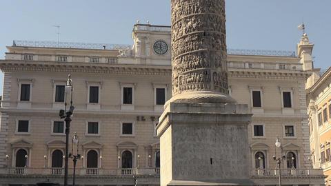 Column of Marcus Aurelius Stock Video Footage