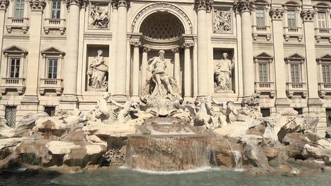 Fontana di Trevi in Rome, Italy Stock Video Footage