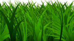 Grass rapidly growing Animation