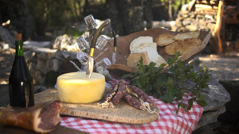 Typical Food Product, Sardinia, Italy stock footage