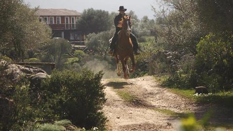 Man Riding On Sardinia Horse, Italy Footage