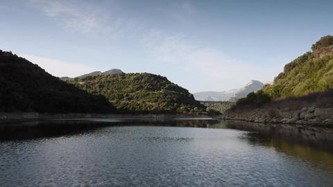 Cedrino Lake, Sardinia, Italy Stock Video Footage