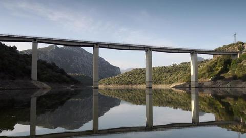 Cedrino Lake, Sardinia, Italy Footage