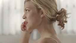 Woman Brushing Teeth Stock Video Footage