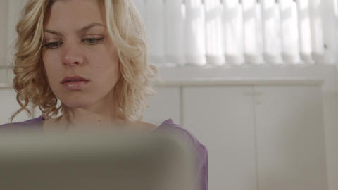 Woman Having Headache Stock Video Footage
