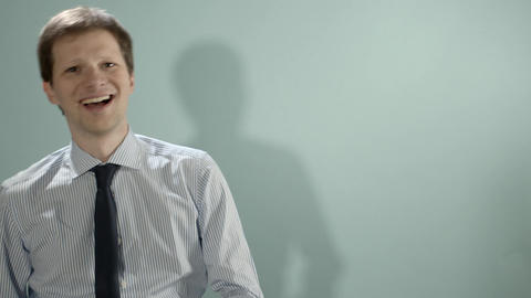 Businessman In A Hurry Stock Video Footage