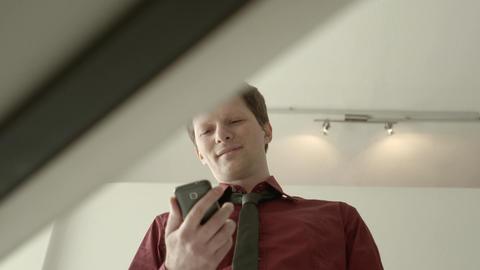 Businessman Text Messaging Stock Video Footage
