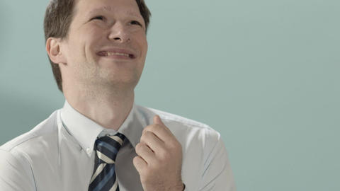 Businessman Laughing For Joy Stock Video Footage
