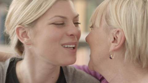 Mom And Daughter Hugging Stock Video Footage