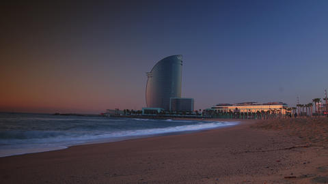 Barcelona, Spain. Barceloneta Beach - one of the m Footage