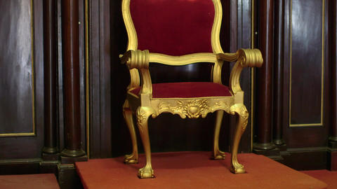 Religious Objects and Catholic Church Old Chair Stock Video Footage