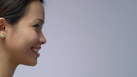 Asian Girl Smiling Stock Video Footage