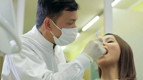 Dentist Visiting Patient in Dental Studio Footage