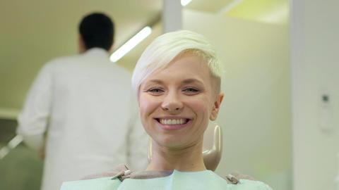 Dentist Visiting Patient in Dental Studio Stock Video Footage