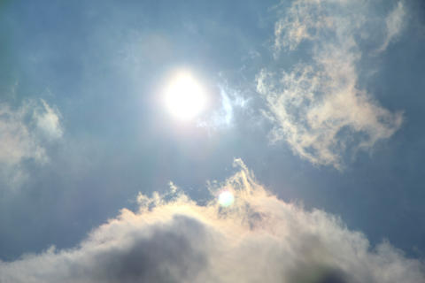 Sun and clouds timelapse Stock Video Footage