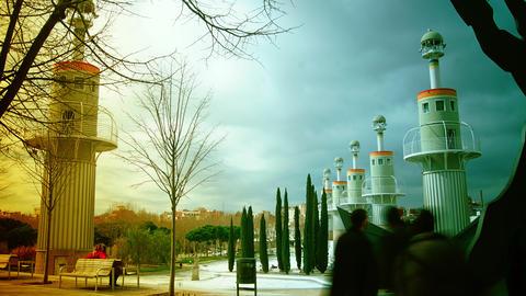 Parque de l'Espanya Industrial, Barcelona Footage