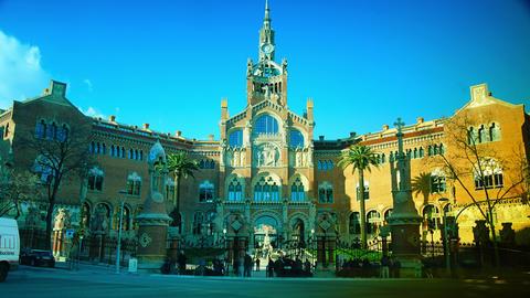 Hospital De La Santa Creu I De Sant Pau, Barcelona stock footage