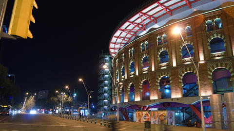 Arenas de Barcelona,The old bullring, built in 190 Footage
