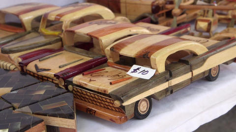 Objects and Souvenirs in Local Market at La Habana Stock Video Footage