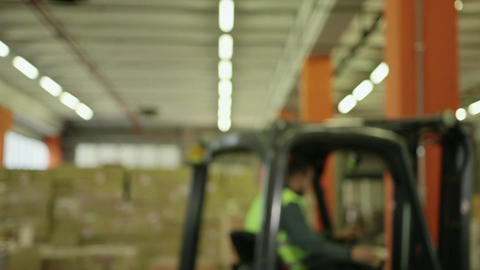 People Working in Warehouse Stock Video Footage