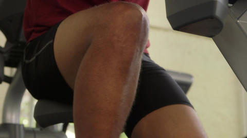 Men Exercising in Gym Adult Hispanic Man Training Stock Video Footage