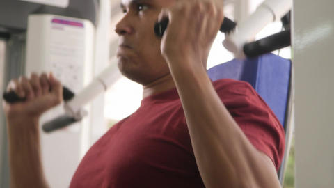 Wellness and Training in Fitness Club Hispanic Man Footage