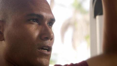 Wellness and Training in Fitness Club Hispanic Man Stock Video Footage