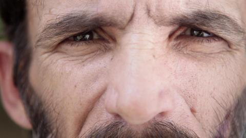 Portrait of Sad Mature Hispanic Man Looking at Camera Stock Video Footage