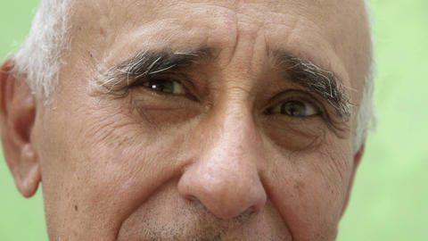 Portrait of Bizarre Old Hispanic Man Looking at Camera Stock Video Footage