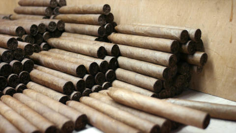 Cuban Traditional Industry Handmade Cigars and Tob Stock Video Footage