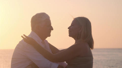 Elderly Couple in Love Romance with Old Man and Woman Stock Video Footage
