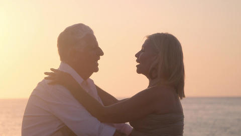 Elderly Couple In Love Romance With Old Man And Woman stock footage