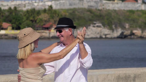 Old People Traveling Husband and Wife Having Fun D Stock Video Footage