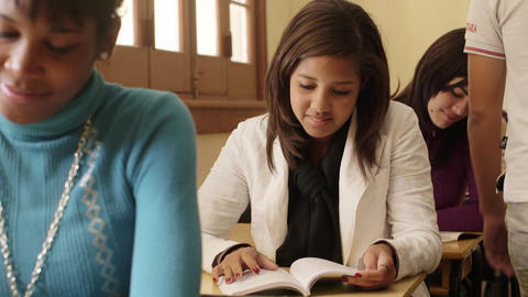 Female Student and College Education Portrait of Girl Footage
