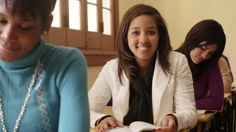 Female Student and College Education Portrait of Girl Stock Video Footage