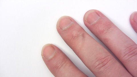 Clipping Fingernails Stock Video Footage