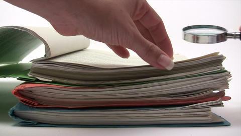 Document Examination Stock Video Footage