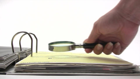 Inspecting Contract Stock Video Footage