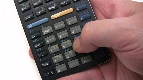 Calculations stock footage