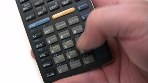 Calculations Stock Video Footage