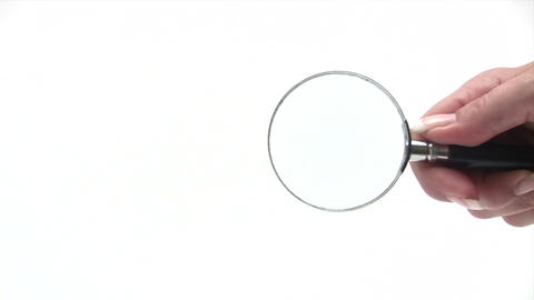 Magnifying Glass Stock Video Footage