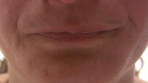 Brushing Teeth - Time Lapse Stock Video Footage