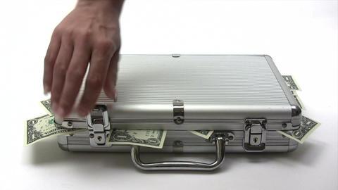 Money Case Stock Video Footage