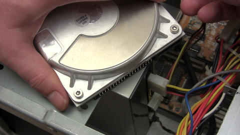 Connecting Hard Disk Stock Video Footage