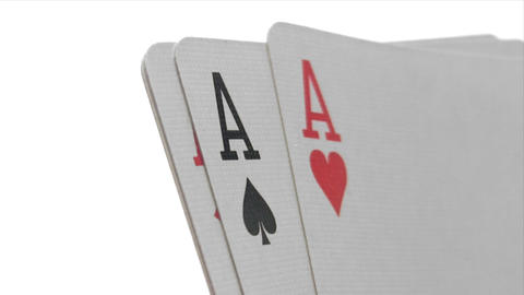 Four Aces - Close-Up Stock Video Footage