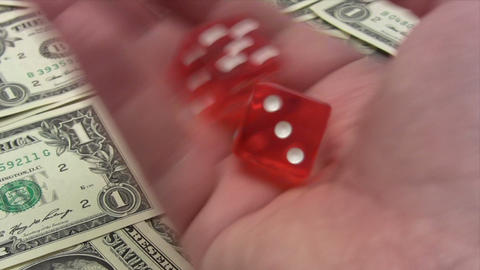 Rolling the Dice Stock Video Footage