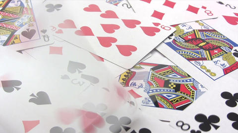 Playing Cards - Time Lapse Stock Video Footage