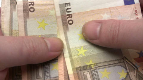 Roll of Euro Banknotes Stock Video Footage