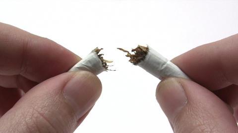 Breaking Cigarette Stock Video Footage